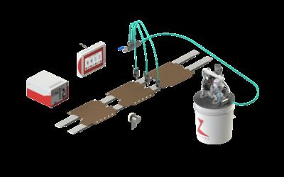 Sistemi per l'applicazione di collanti per l'industria cartotecnica e del converting